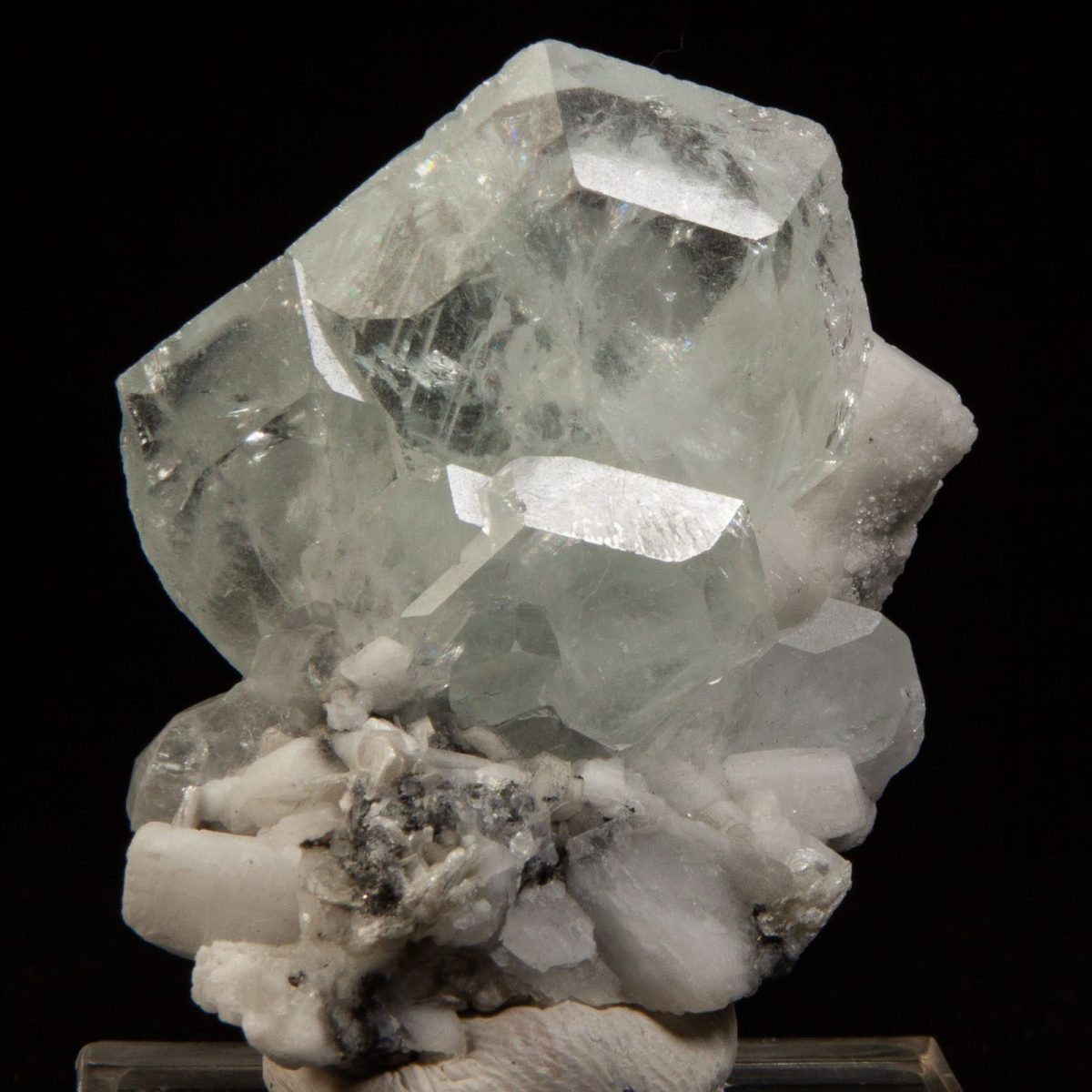 Beryl var. Aquamarine and Albite