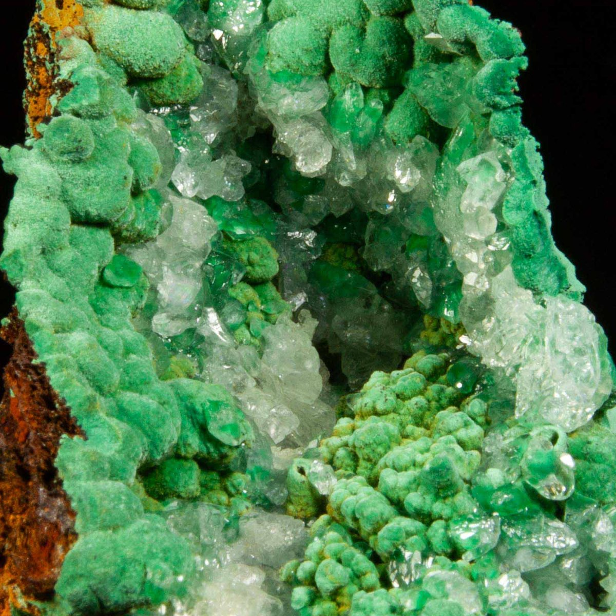 Malachite and Calcite