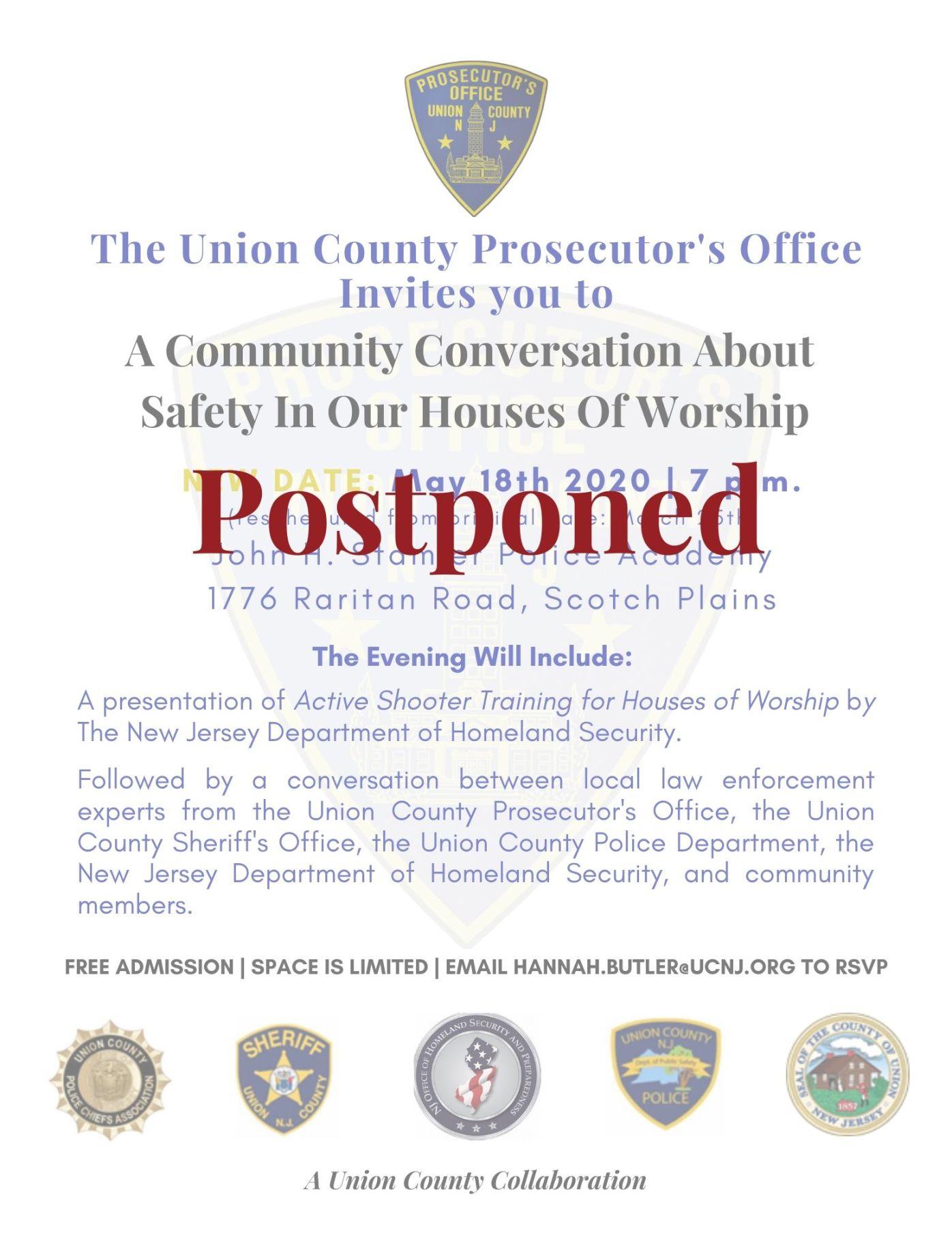 Postponed Active Shooter Flyer