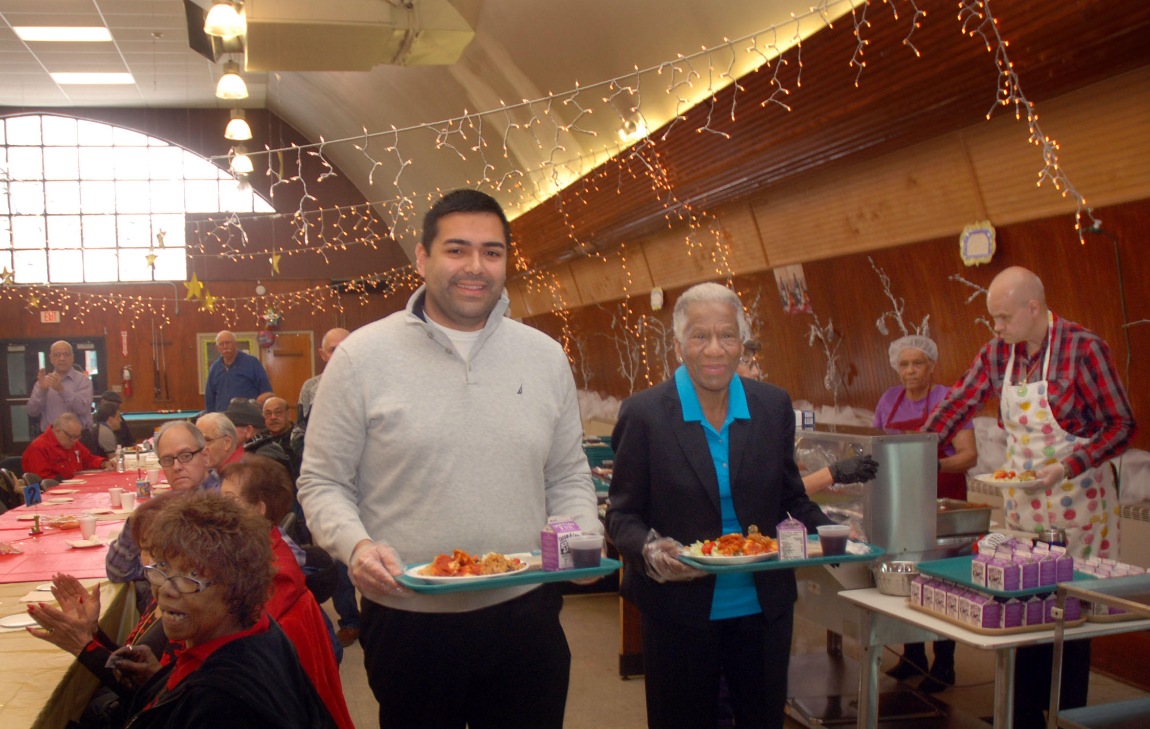 Union County Freeholder Vice Chairman Sergio Granados And Freeholders Vernell Wright Bette Jane Kowalski Helped Served Meals At The Stephen Sampson