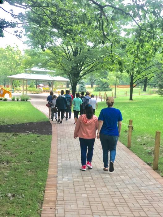 sensory trail - walking to gazebo