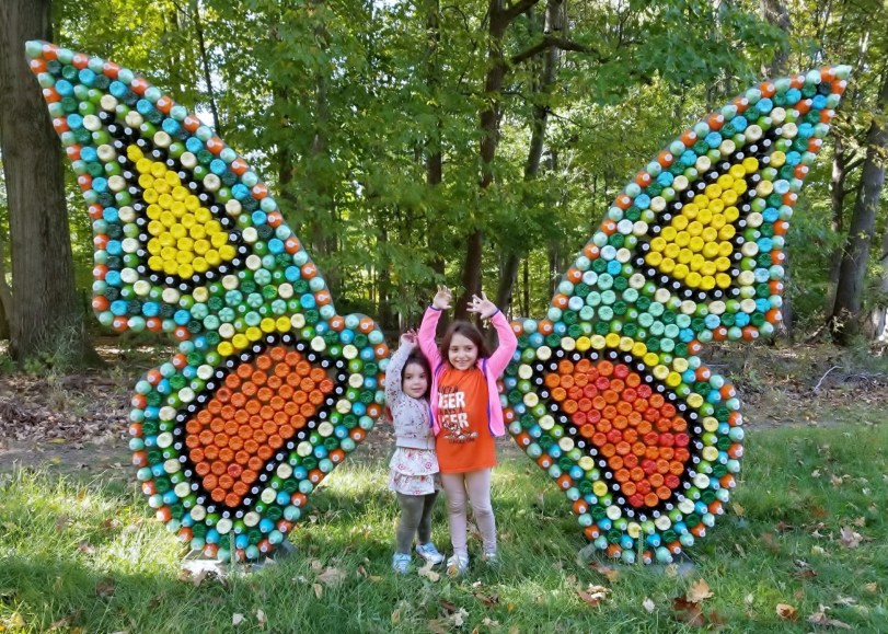 recycled art butterfly grace & victoria Linden