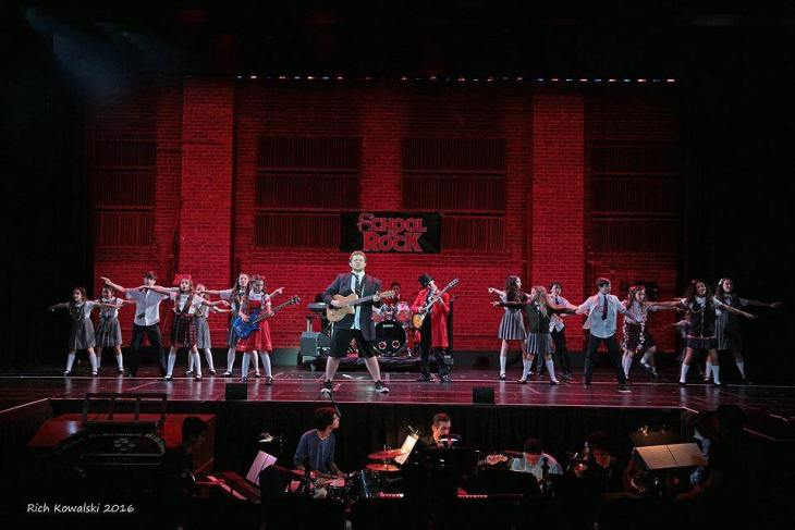 A Youth Production of School of Rock the Musical on the Main Stage (2016)