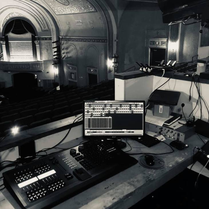 The Main Stage tech booth