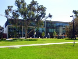 Front of the state-of-the-art 100,000 sq foot building