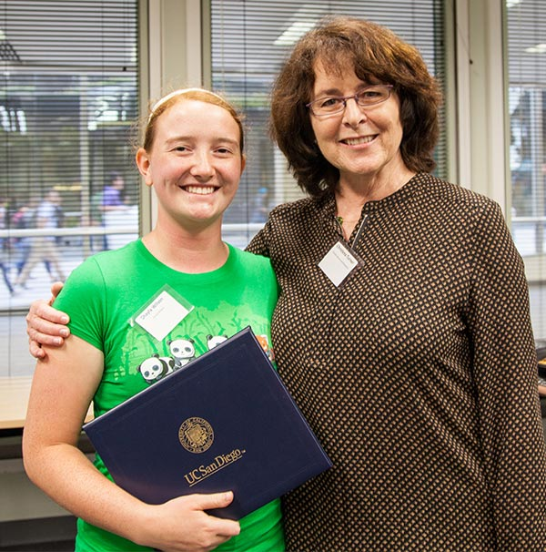 Image: Social Sciences/Arts/Humanities Second Prize winner, Shayla Wilson with nominating professor Christena Turner