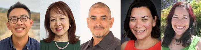 Simeon Man, Yen Le Espiritu, Luis Alvarez, Cristela Garcia-Spitz and Alanna Aiko Moore