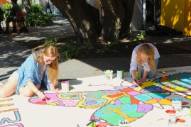 Mural painting for Cambodia during Ecoweek 2015 with EWB