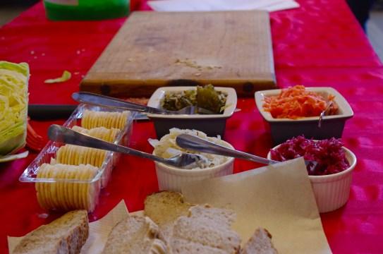 Yummy things to taste at Ecoweek workshops