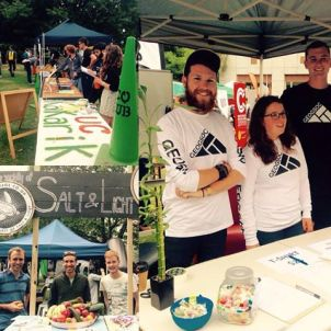 Clubs day at UC - here are some of the 'Eco Clubs' on campus: Geosoc, Kakariki, Fruit and Vege co-op Salt and Light. Keep an eye out for the Green Eco club cones! #ucsustain #ucnow UC Kakariki