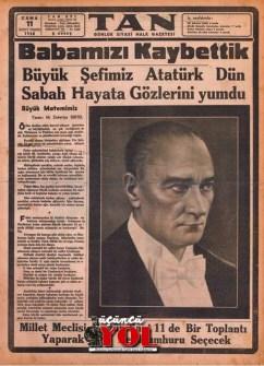 10 kasım 1938 gazete manşetleri (15)