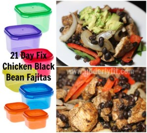 21 Day Fix Chicken Black Bean Fajitas