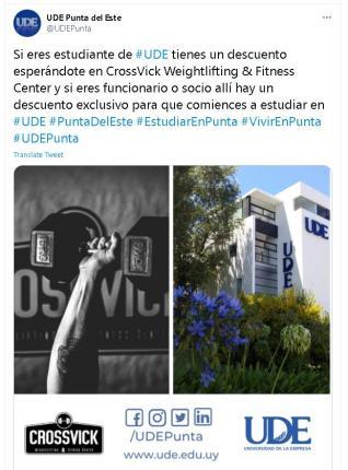 descuentos especiales de UDE en Punta del Este