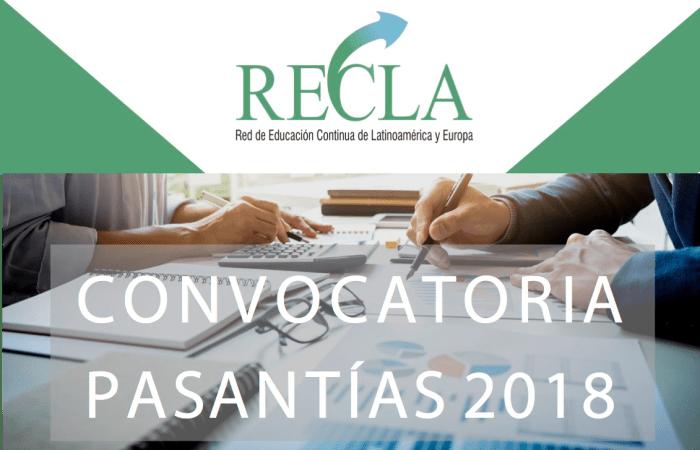 Convocatoria a pasantías RECLA 2018