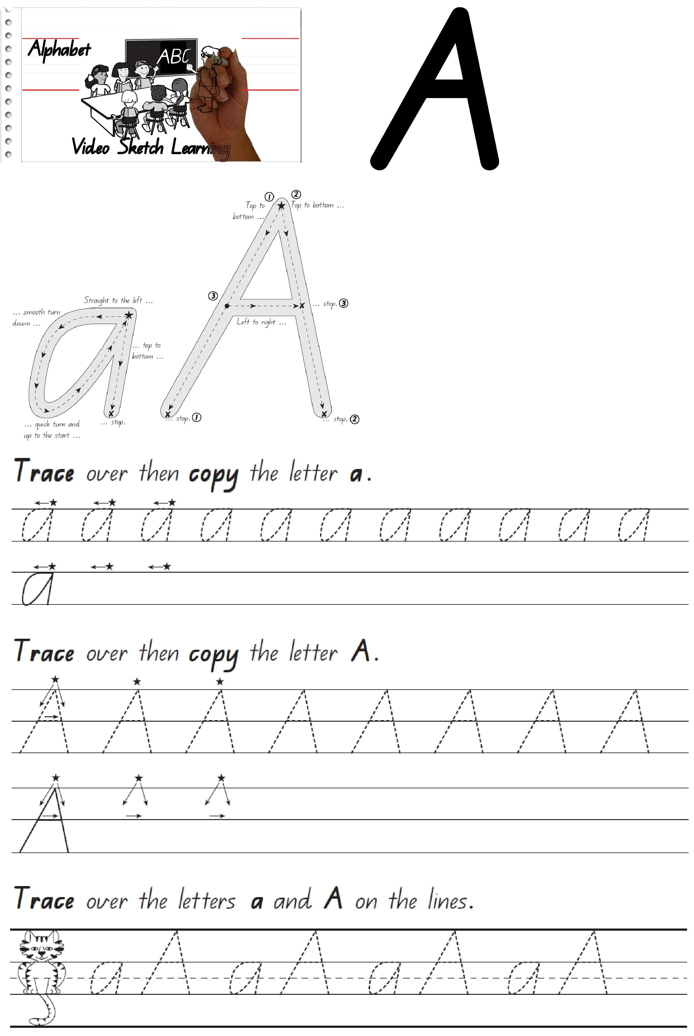 English Alphabets Cursive Writing Worksheets
