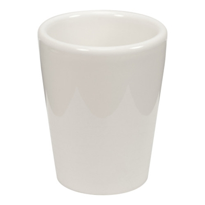 WHITE SHOT GLASS – 1.5oz