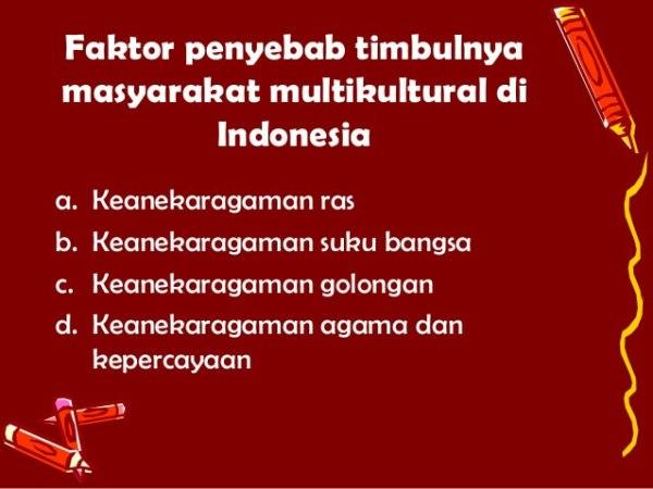 pengertian masyarakat multikultural