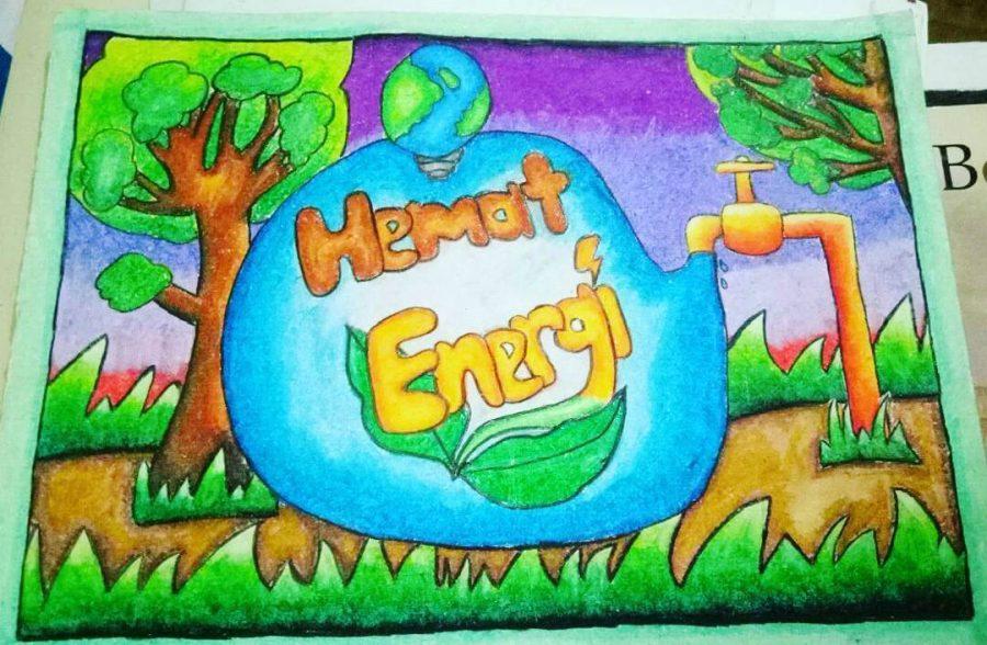 Tren Untuk Poster Ajakan Hemat Energi Air Koleksi Poster