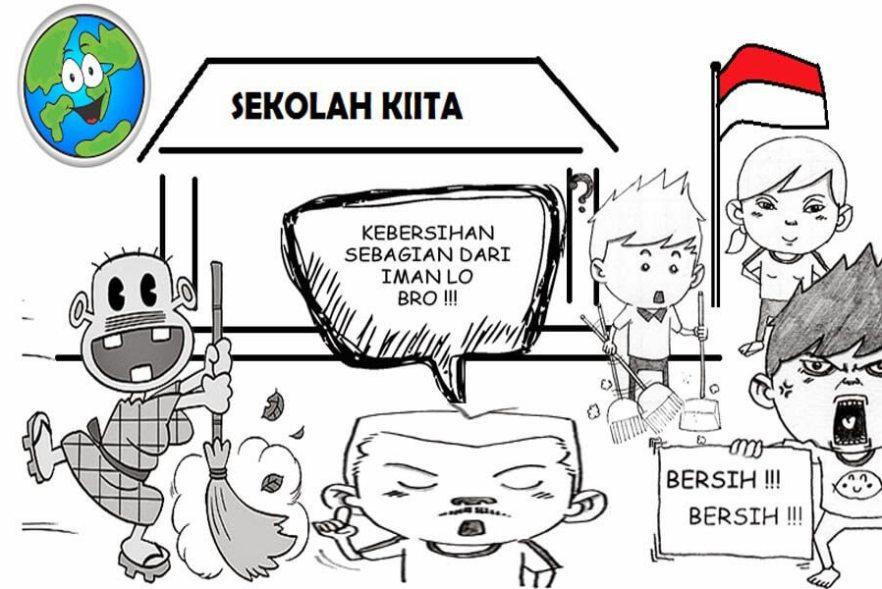 Lingkungan Sekolah Kartun