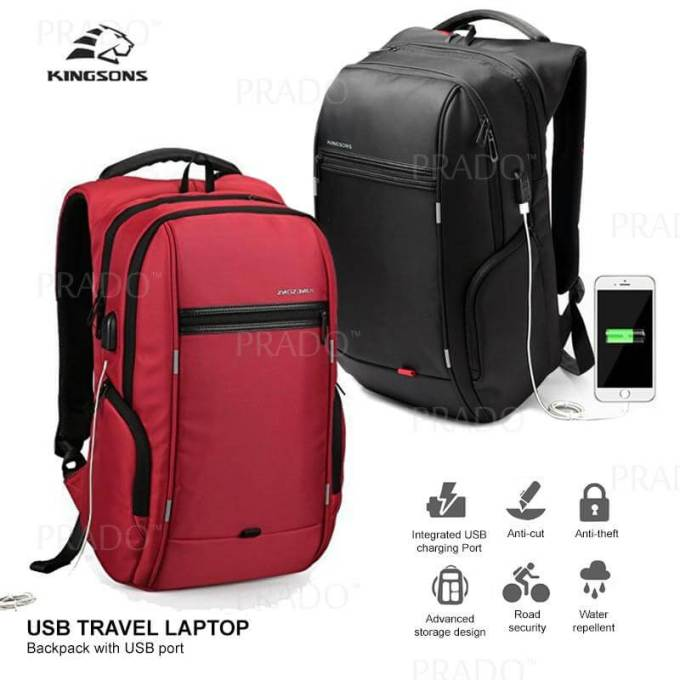 Kingsons Laptop Backpack – Anti Theft