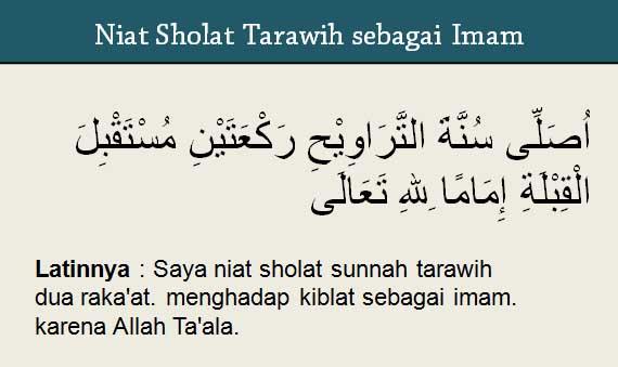 niat solat tarawih