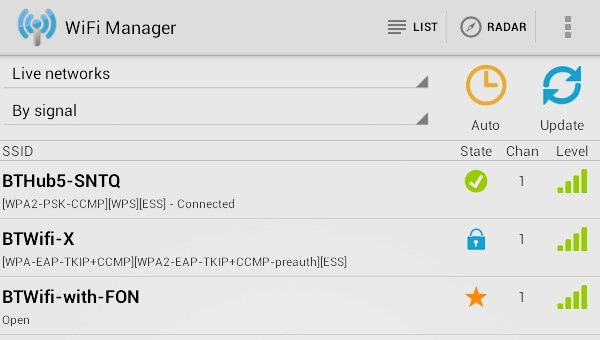 Aplikasi peningkatan sinyal wifi manager