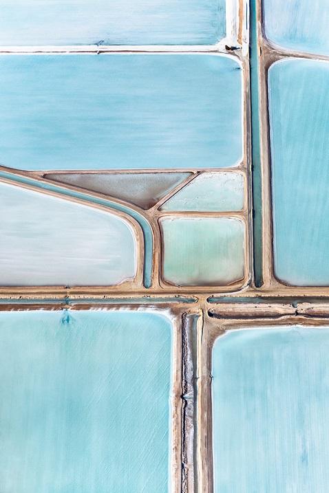 Голубые соляные пруды от Саймона Баттерворта, Австралия. Фото