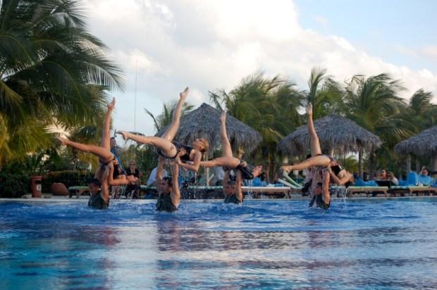 Аква-балет на острове Кайо-Санта-Мария. Куба. Фото