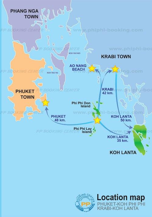 как добраться до Пхи-Пхи. Карта