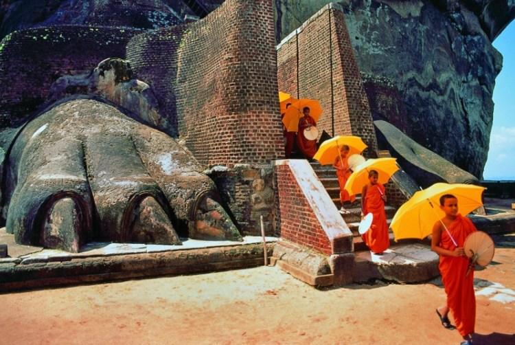 Крепость-дворец Сигирия. Шри-Ланка. Лапы льва