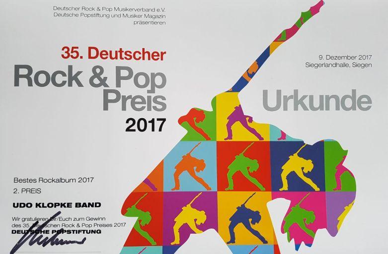 Deutscher Rock und Pop Preis 2017
