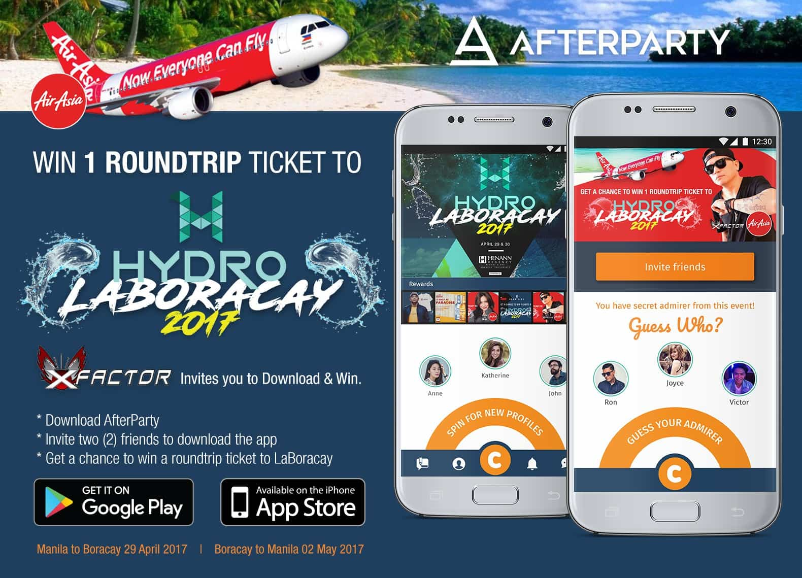AfterParty and AirAsia x-Factor contest for Hydro Laboracay 2017