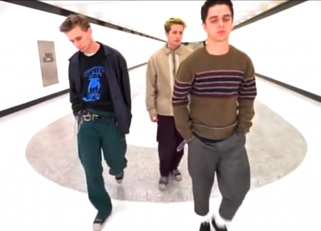 Green Day wearing Chuck Taylors in their music video for When I Come Around