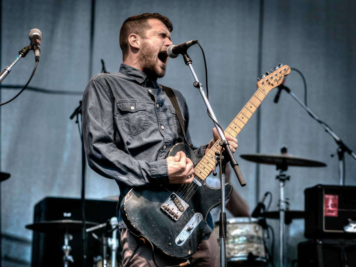 Jesse Lacey of Brand New performing at Riot Fest 2013