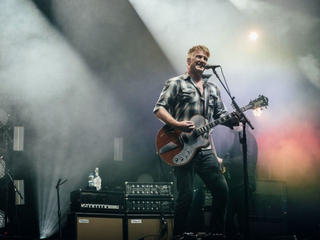 Josh Homme of Queens of the Stone Age live at Reading Festival 2017