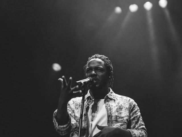 Kendrick Lamar performing live at Bluefest