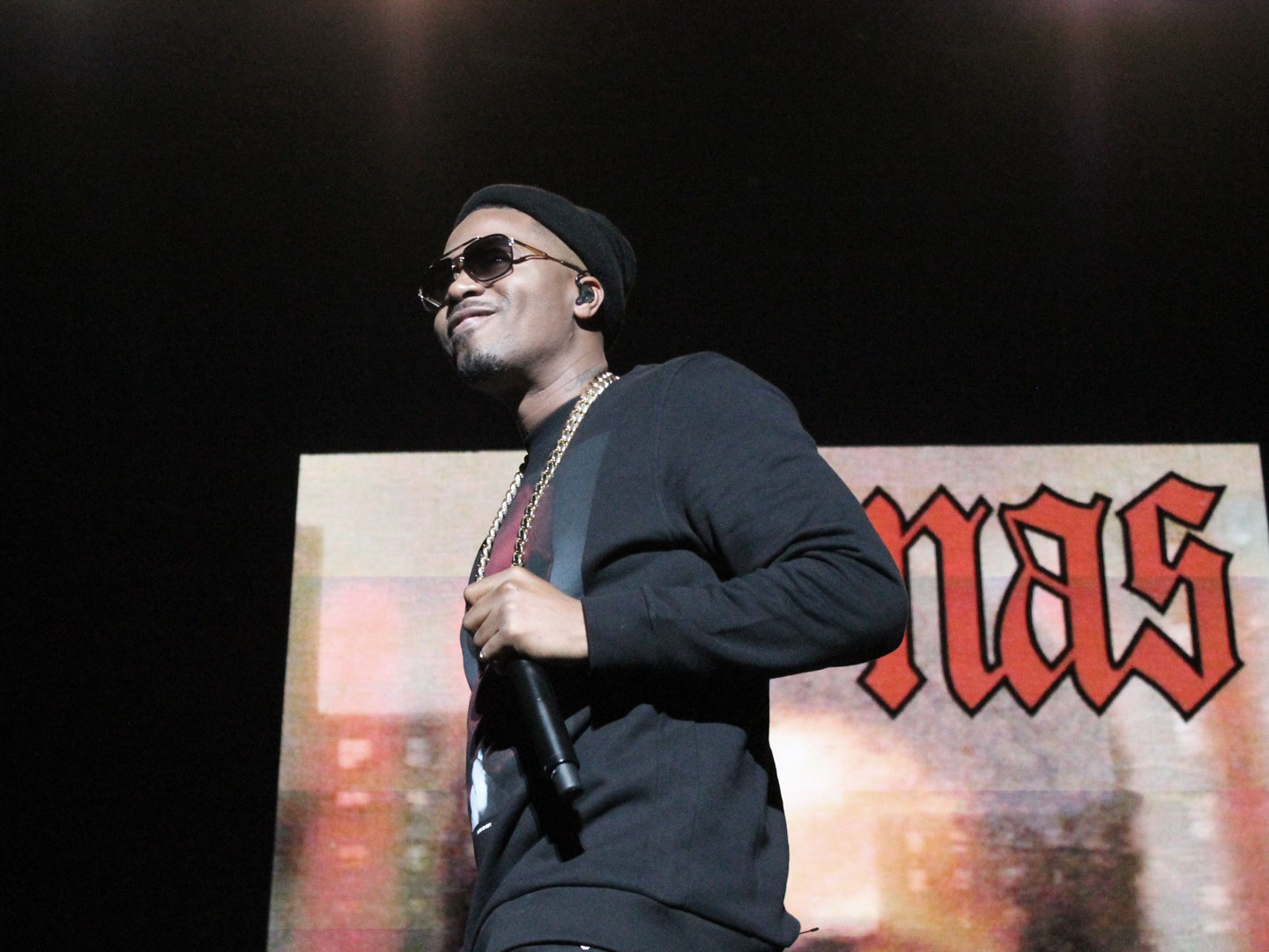 Nas performing live at the Fox Theater in Oakland, California