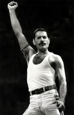 Freddie Mercury at the 1985 Live Aid Concert