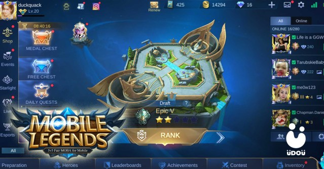 mobile legends ui