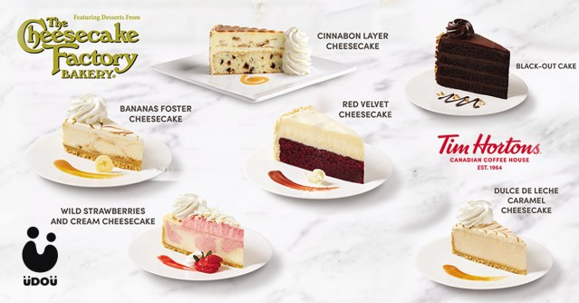 The Cheesecake Factory cakes Tim Hortons Philippines