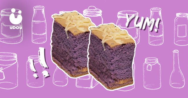 Ube Cheese Sponge Cake