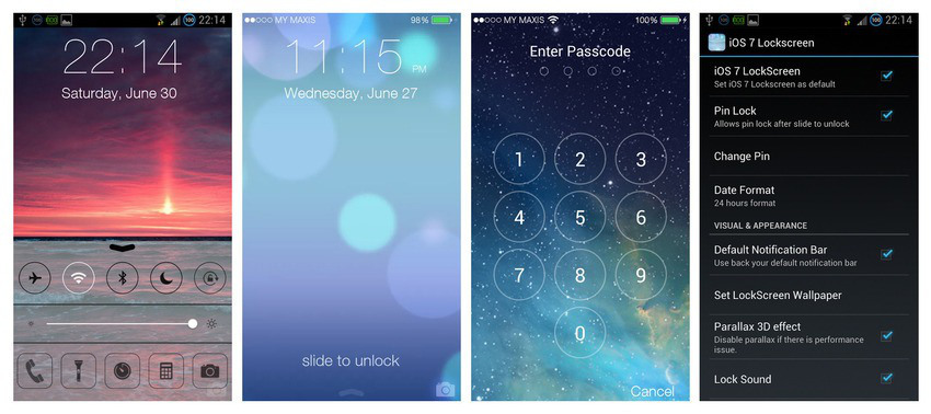 IOS 7 Lockscreen The First Lock Screen App With Best Parallax 3d Effect More Than 3 Milliondownloads To Date Prank Your Friend Own