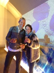 Gary and Claudine enjoy the spoils of the Pommery tour