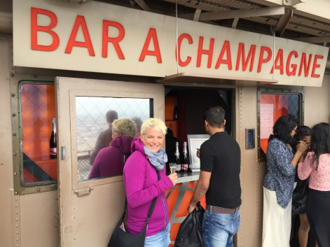 Bless the French. A Champagne bar at the summit