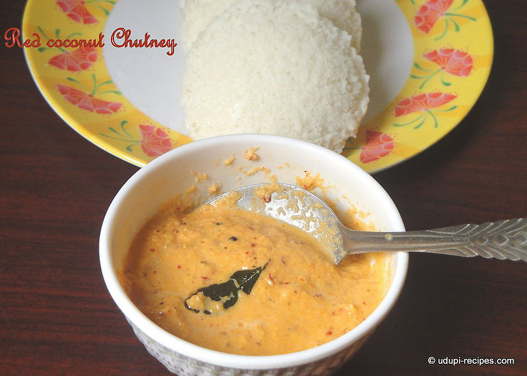 Red Coconut Chutney Recipe A Sidedish For Idli Dosa