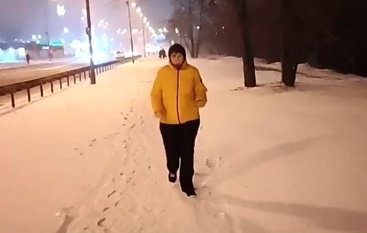 Наши пробежки по весеннему снегу