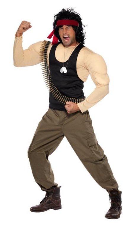 Rambo Kostüm ohne Rambo Messer
