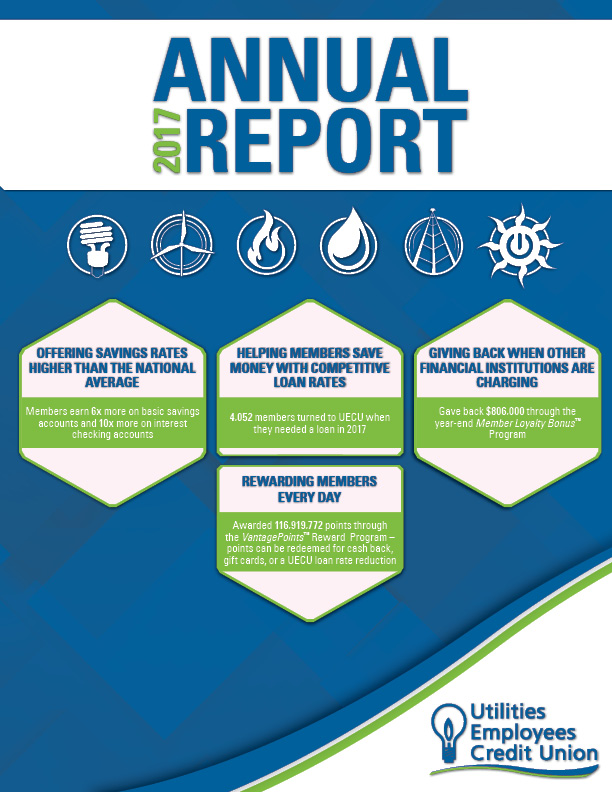 Image of 2017 UECU Annual Report cover
