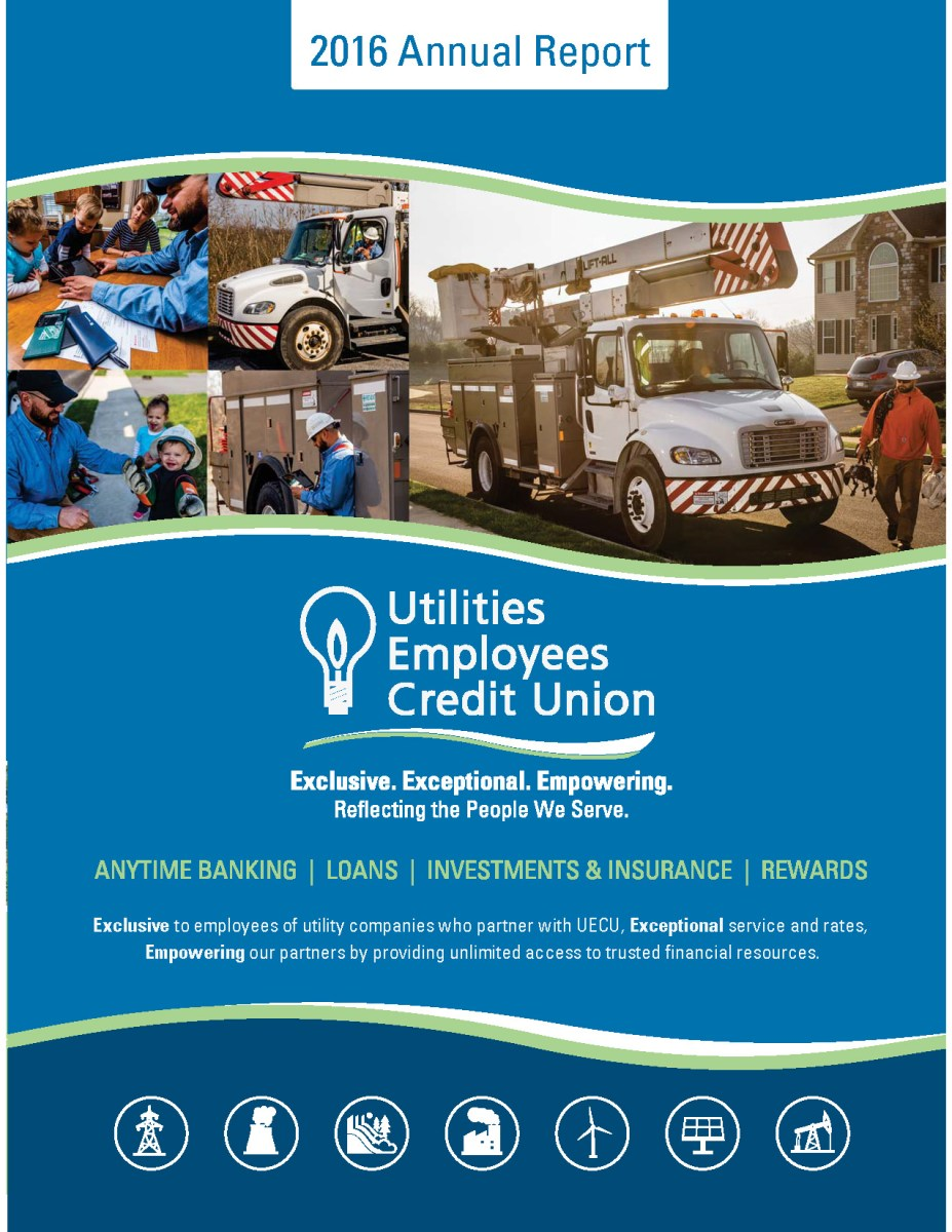 Image of 2016 UECU Annual Report cover