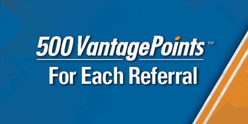 Image of referral bonus of 500 VantagePoints